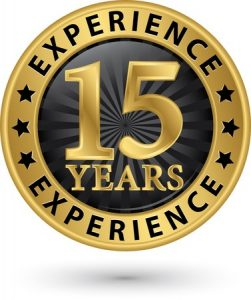 15 years of sales and marketing experience